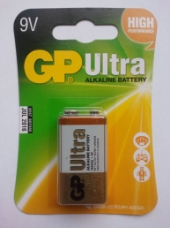 GP Batteries 9V Paristo ULTRA